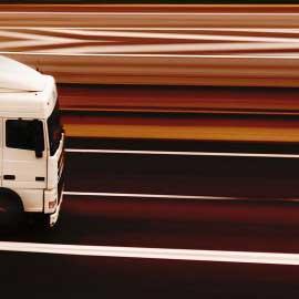 Containertransport på väg från Malmö